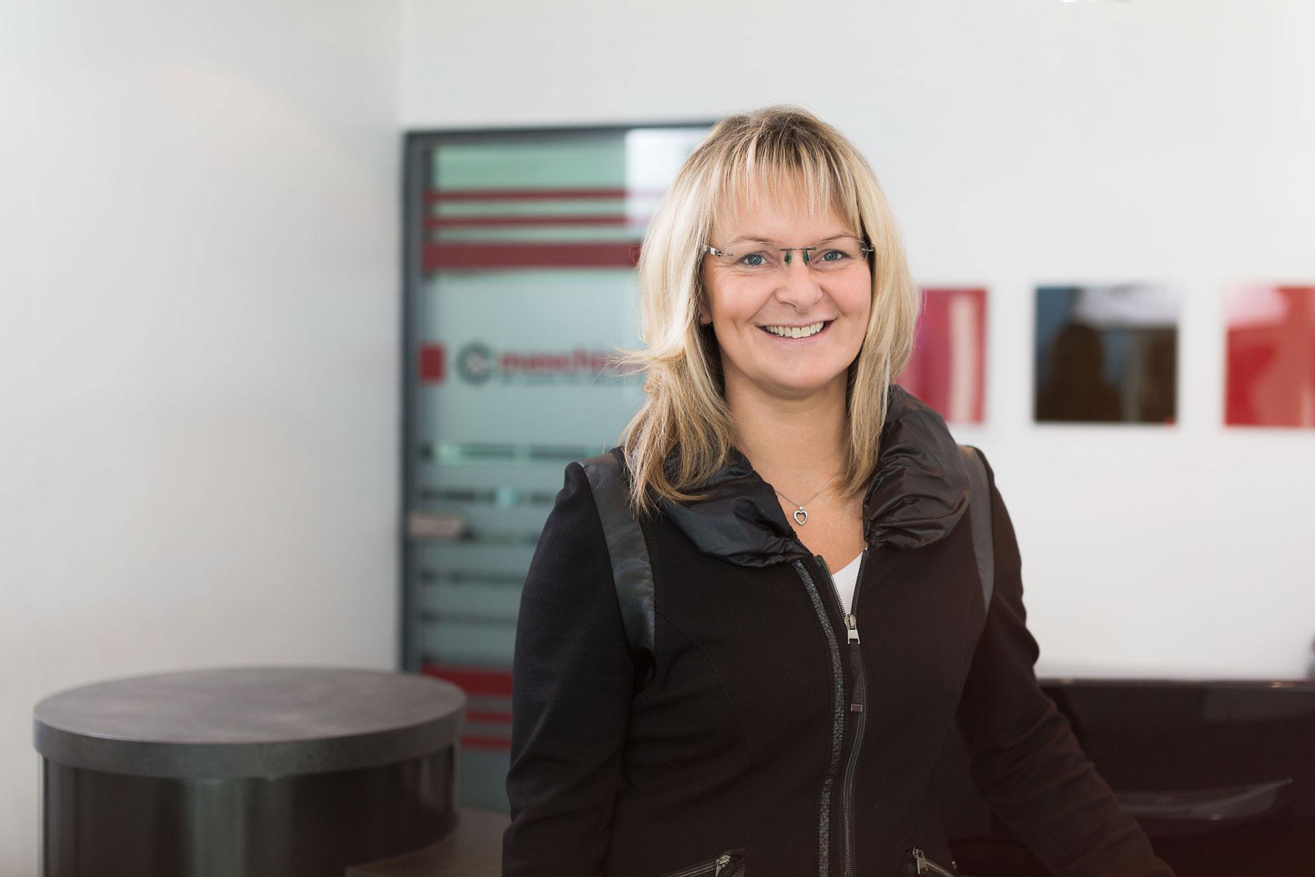 Monika Frers, Mitarbeiterin der Firma Maschinendoc